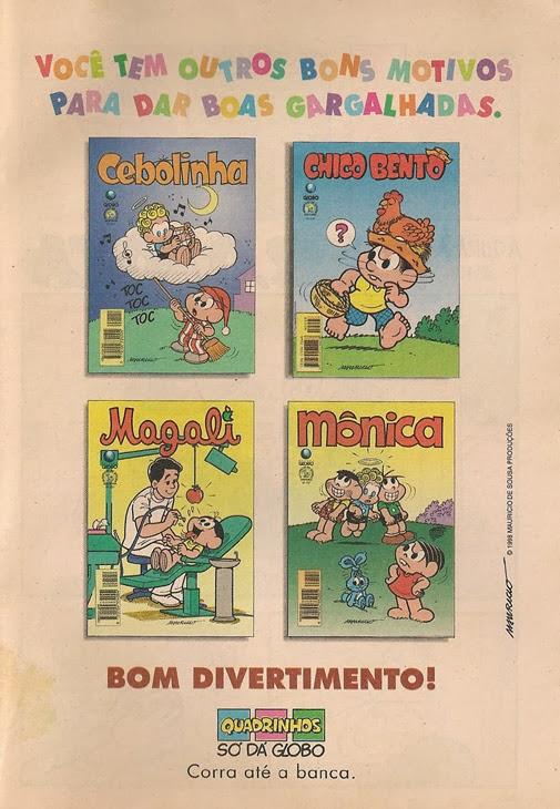 Arquivos Turma da Mônica: Propagandas anunciando gibis (Parte 8)
