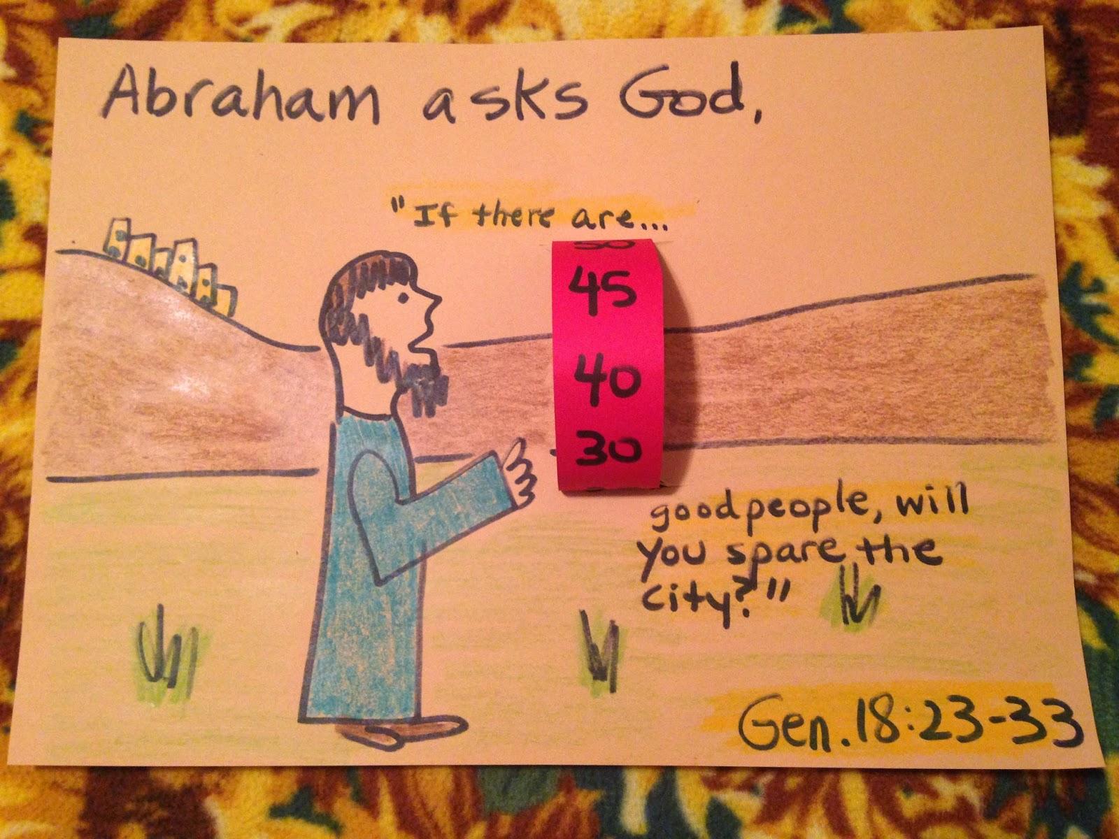 Children S Bible Lessons Lesson Abraham Entreats God