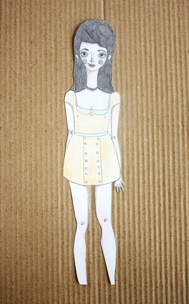 paper doll illustration by caitlin shearer