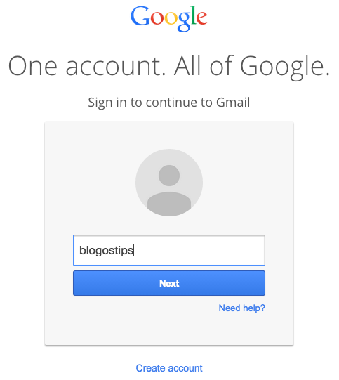 New Gmail Login Page