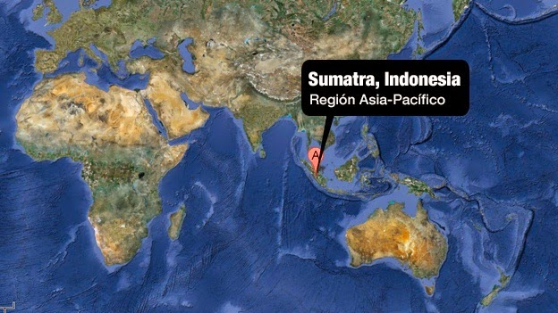 FUERTE SISMO DE 6,2 GRADOS RICHTER SACIDIO LA ISLA INDONESIA DE SUMATRA, 18 DE MAYO 2014