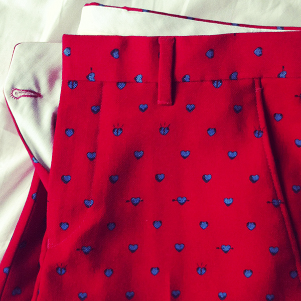 Orlando And The Fountain A Printed Trouser
