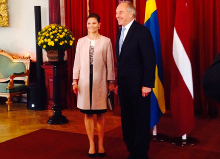 President of Latvia Andris Berzins said that he sees Sweden as a good partner in finding new export markets in the future.