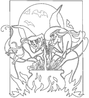 Gambar Kartun Nenek Sihir Horor