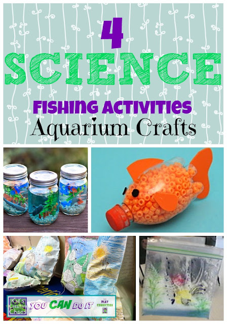 Aquarium Activities Fishing Crafts for Science Lesson Homeschool