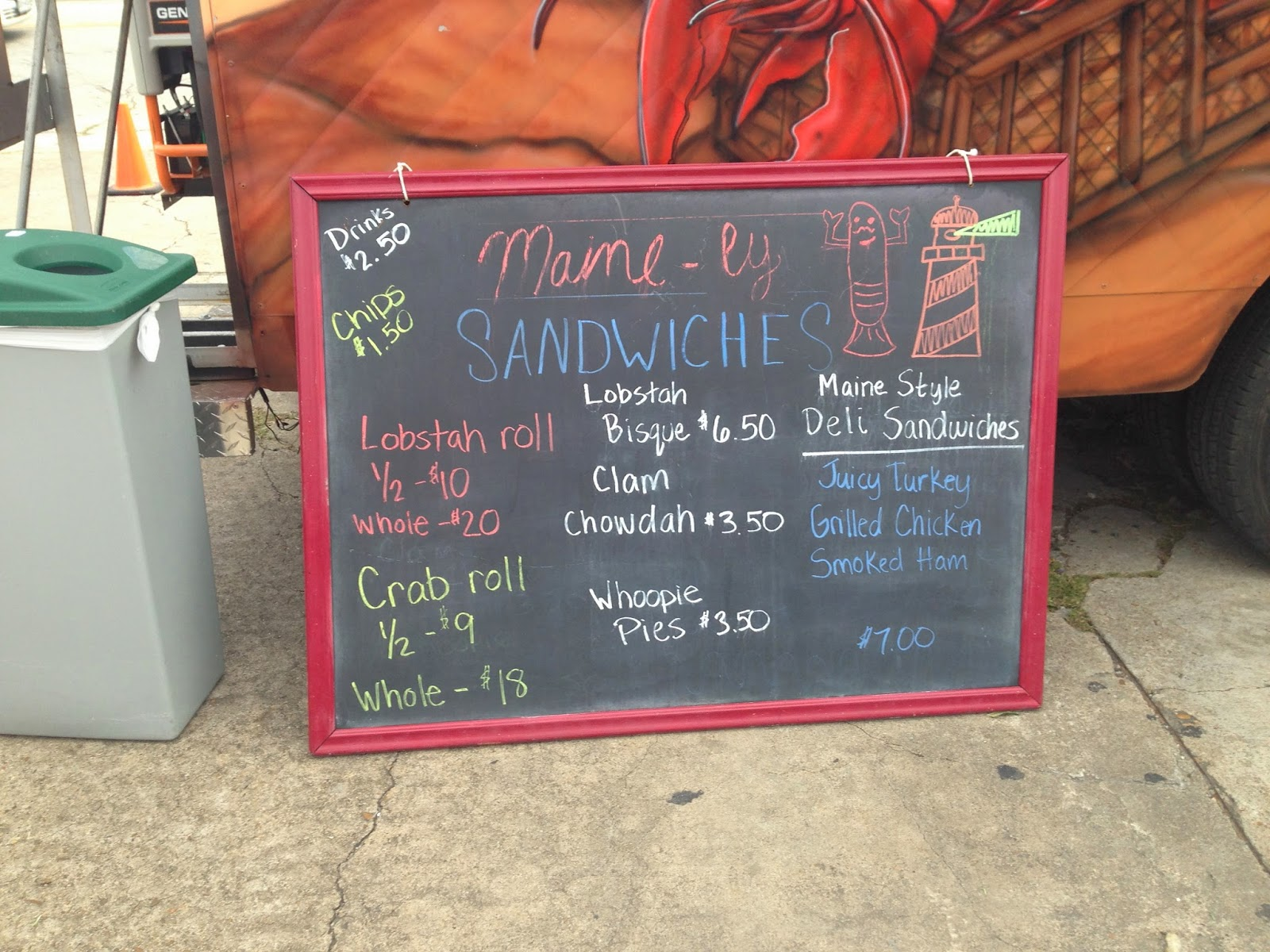 Maine-ly Sandwiches Houston Food Truck Menu