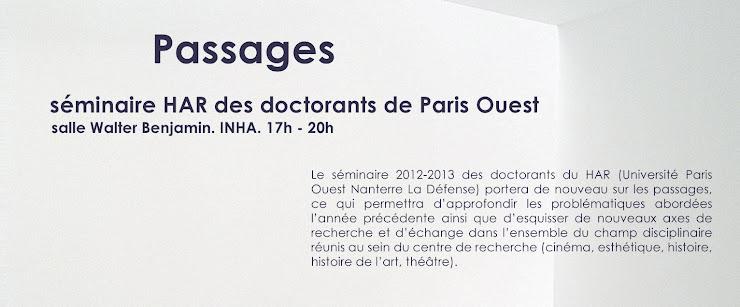 Séminaire HAR des doctorants de Paris Ouest