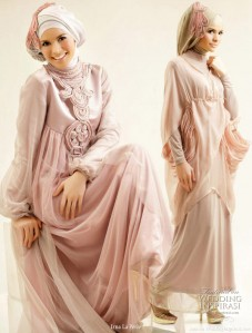 gamis muslimah Model Gaun atau Gamis Pesta Muslimah Modern