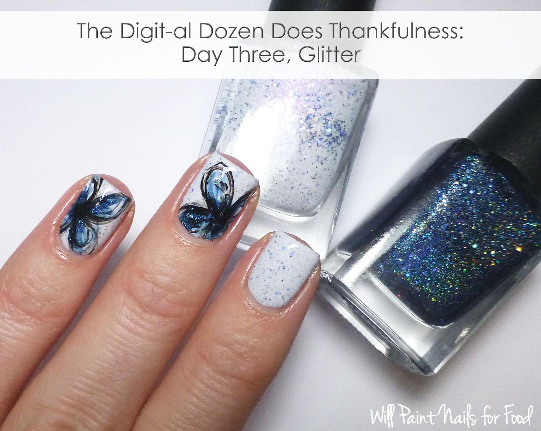 Sketchy floral nail art
