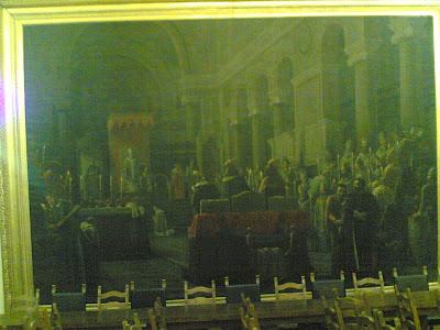 TADDEO DA SESSA AL CONCILIO DI LIONE . LUIGI TORO, 1893 Sessa Aurunca, Sala del consiglio comunale.