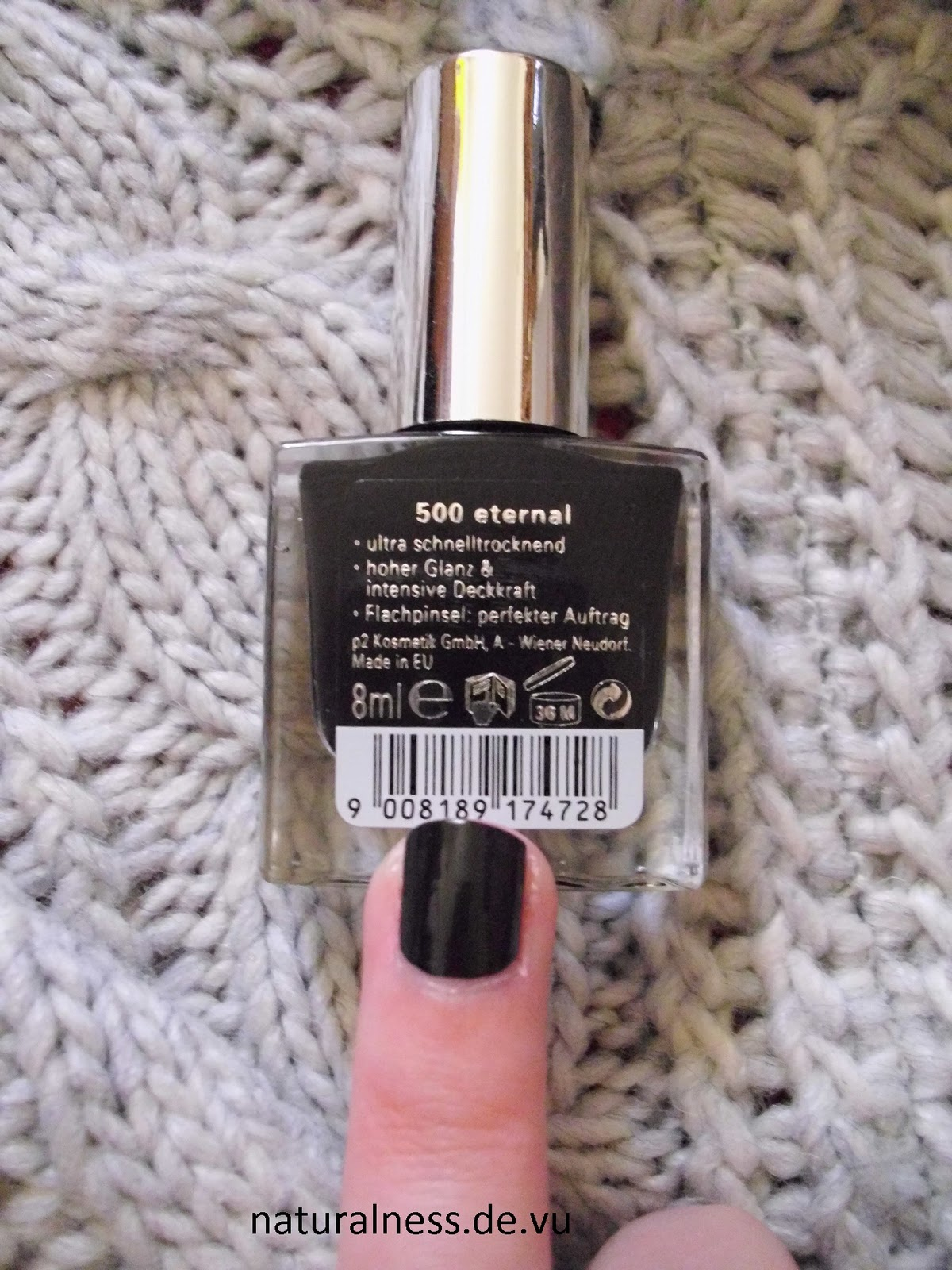naturalness schwarzer nagellack p2 color victim 500 eternal. Black Bedroom Furniture Sets. Home Design Ideas