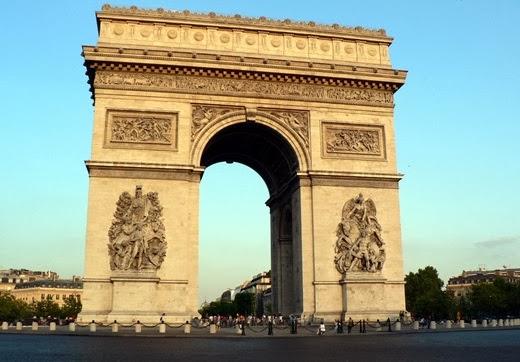 Champs Elysees Road Arc de Triomphe Paris