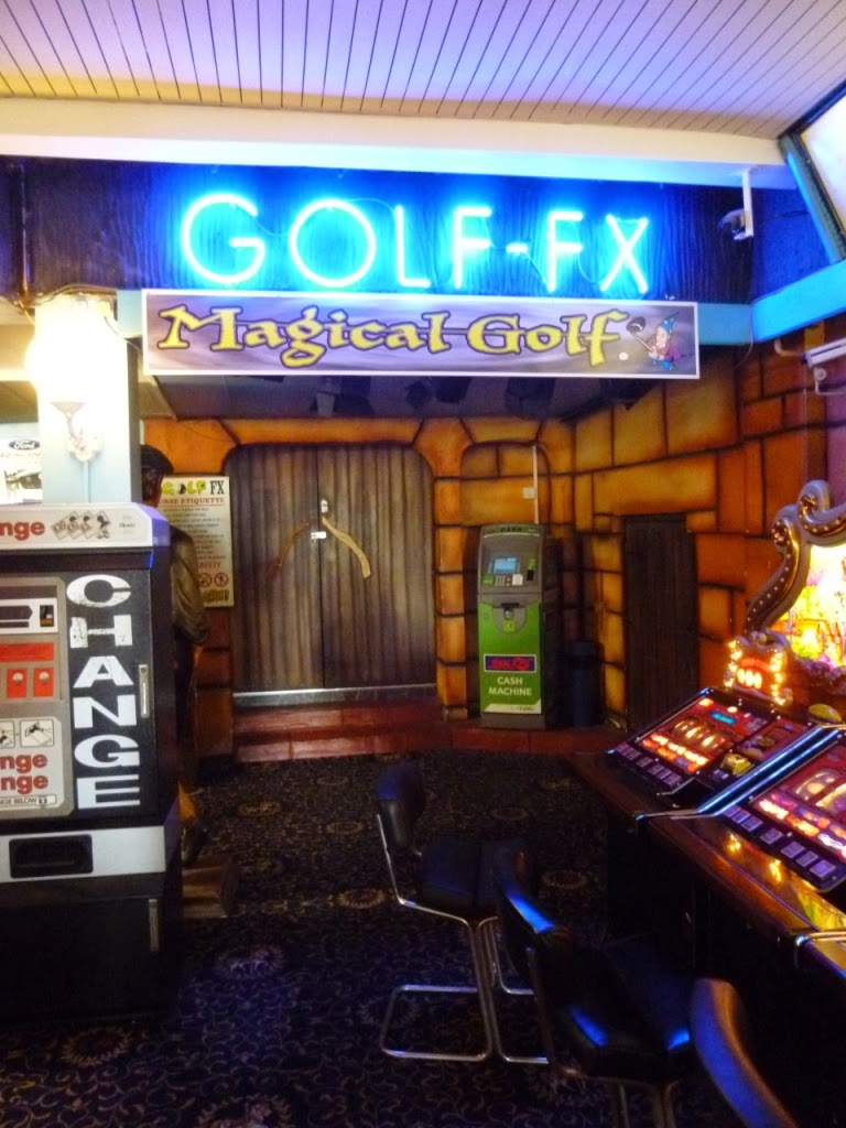 Indoor crazy golf course at Manning's Amusements in Felixstowe
