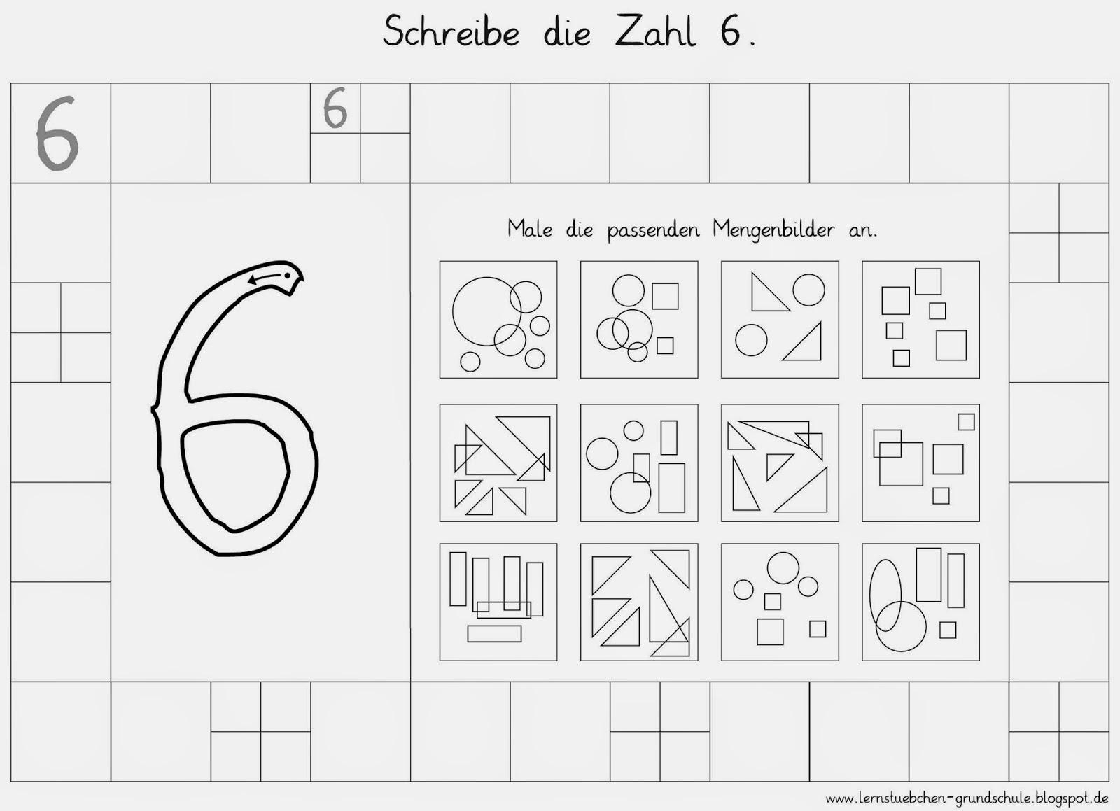 Lernstübchen: Zahlen schreiben - Mengen erkennen (2)