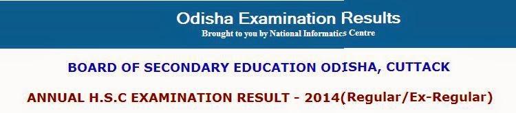 Odisha Class 10th Results 2014