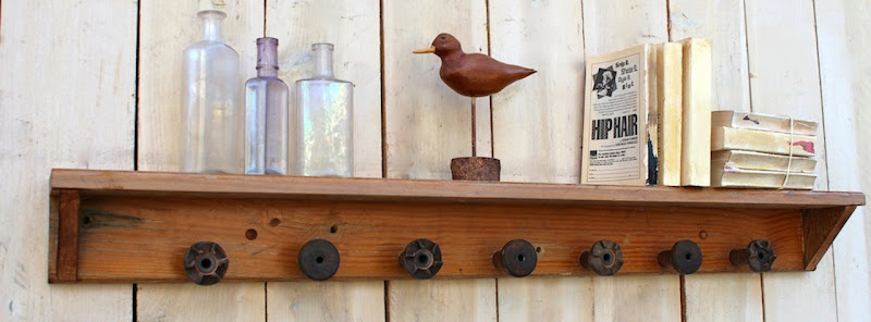 Reclaimed Wood Wall Coat Rack &
