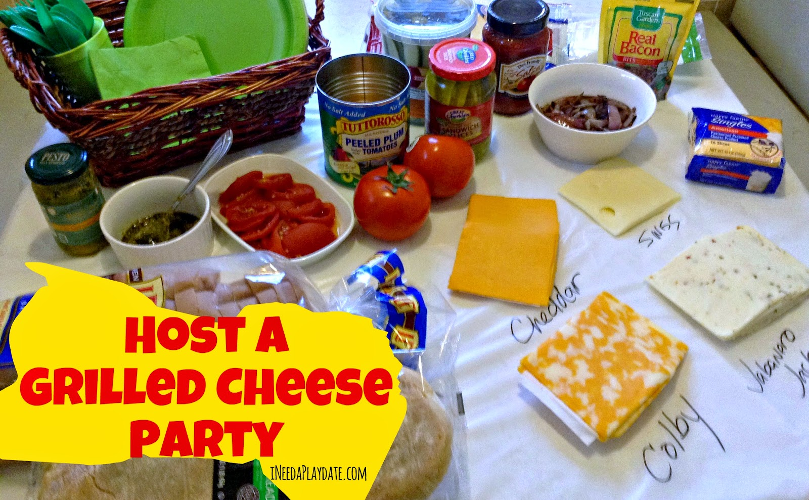 An Affair with Cheese: Hosting a Grilled Cheese Party | ineedaplaydate.com