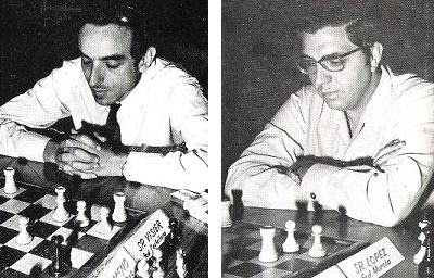 Los ajedrecistas Fernando Visier y Antonio López Rodríguez