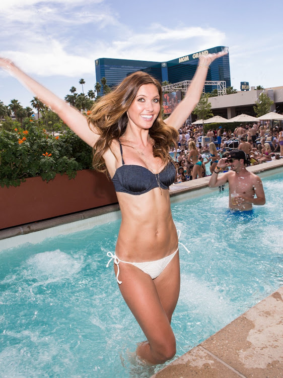 Audrina Patridge bikini in the pool at Wet Republic