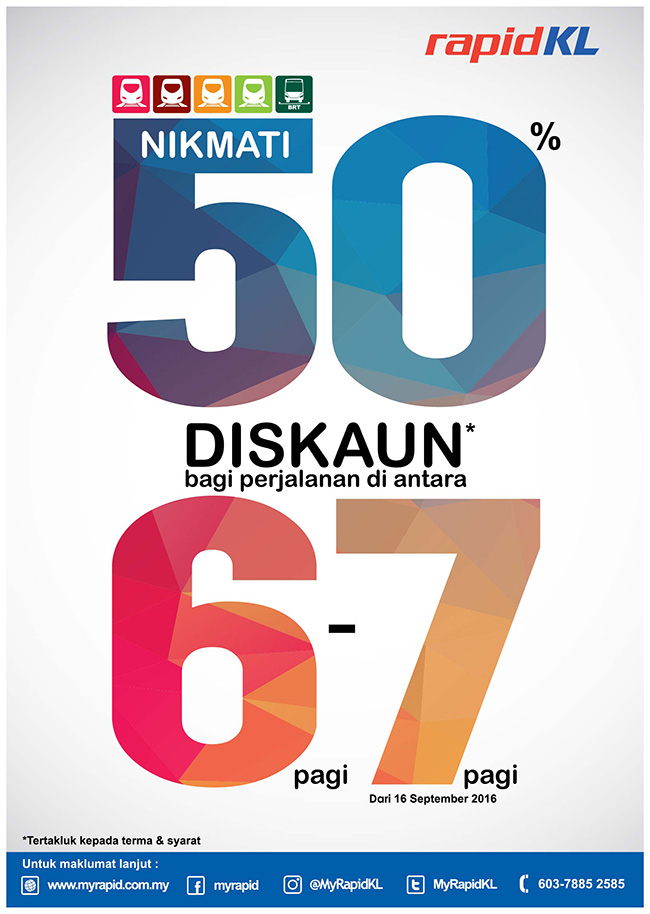 Diskaun 50% RapidKL