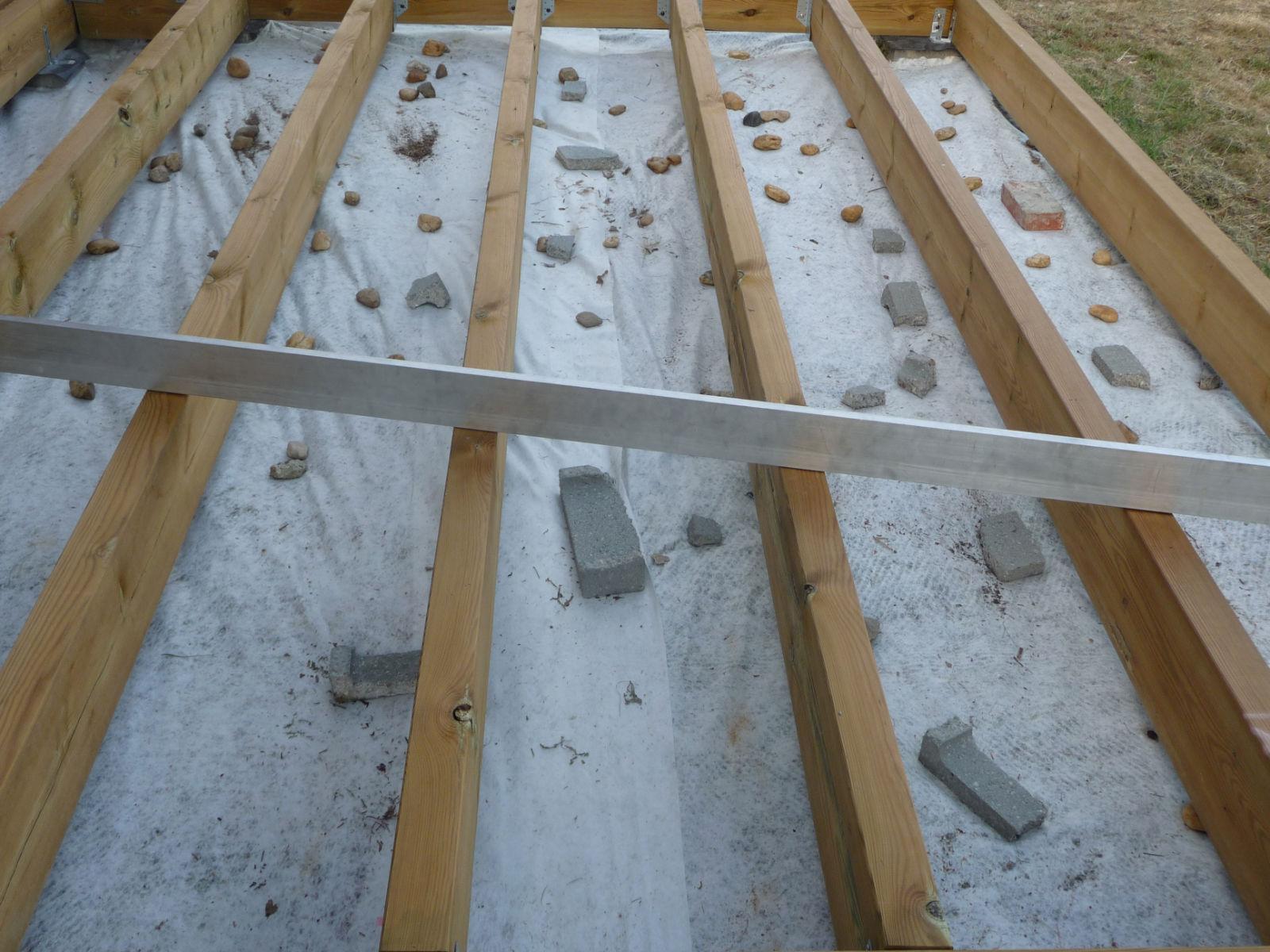de la structure  Construire sa terrasse en bois sur plots en béton