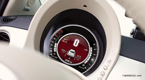 2015 Fiat 500 Digital Instrument Panel