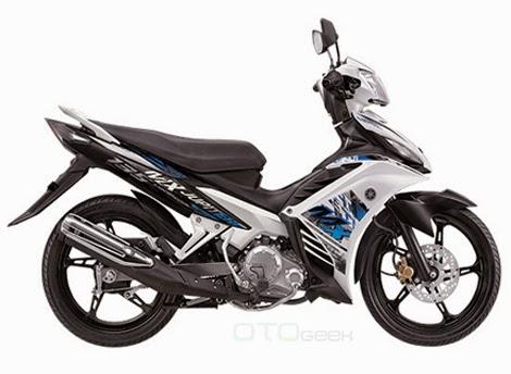 gambar motor yamaha jupiter mx putih sdb