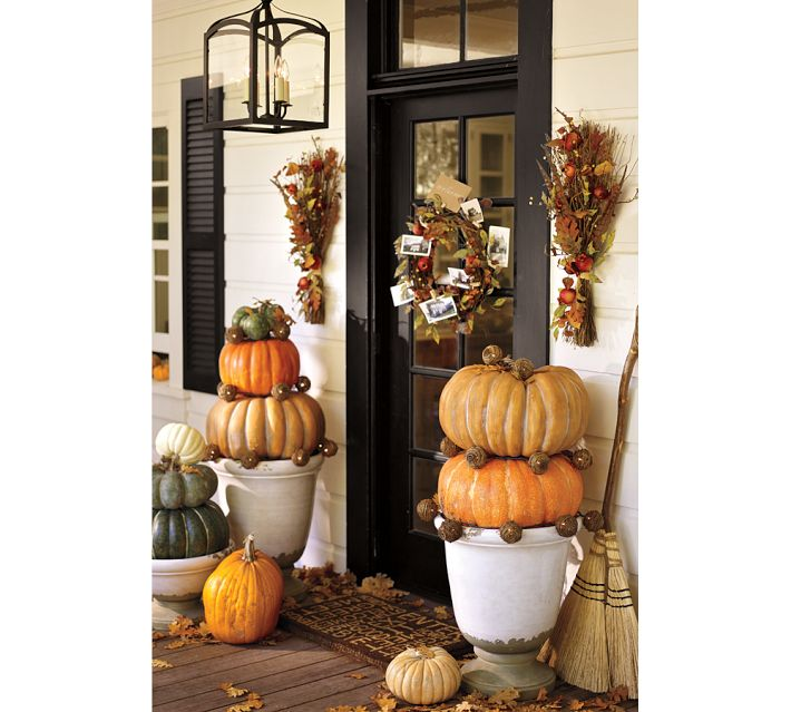 Decorating your outdoor entry for fall driven by decor Fall outdoor decorating with pumpkins