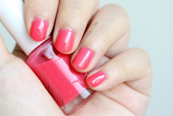 Etude House nail polish PK001 - Cherry Blossom syrup from far