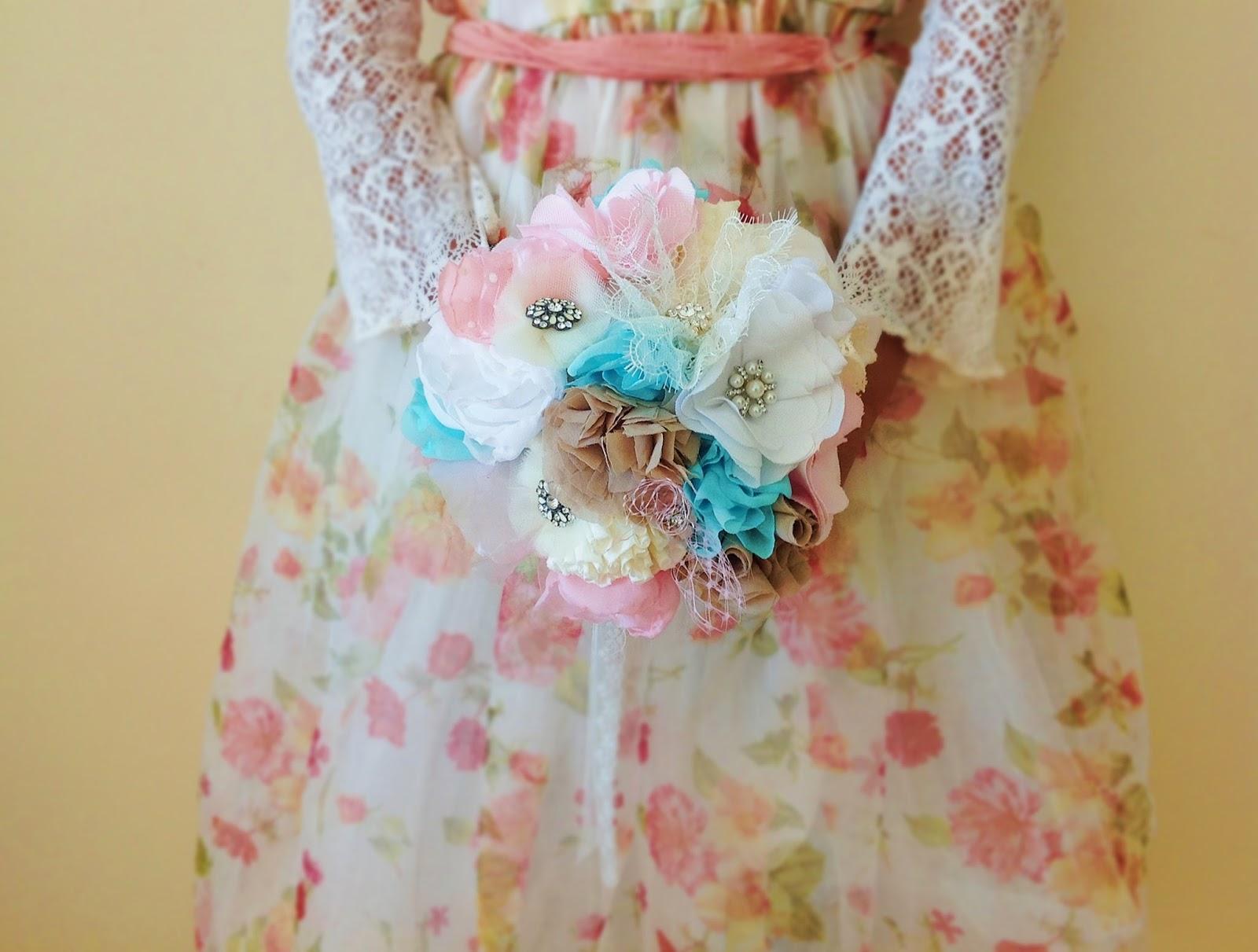 Romantic bridal bouquet shabby chic