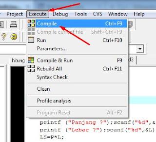 Belajar C++ - Cara Menghitung Luas Persegi Menggunakan C++