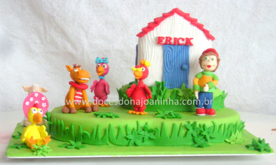 bolo decorado Cocoricó