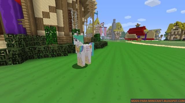 Conviertase en un Pony con este Mod para Minecraft 1.7.10