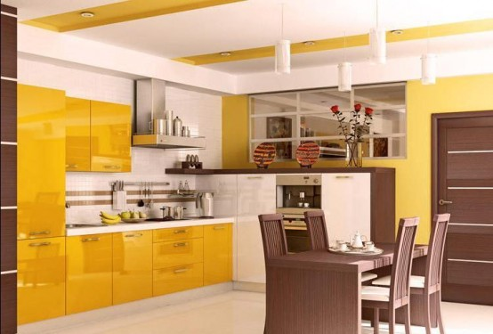 Architecture home design yellow kitchen design ideas for Kitchen ideas yellow
