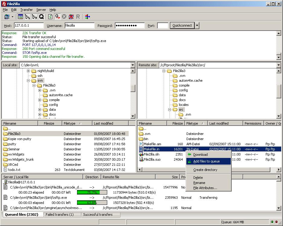 resume ftp download linux