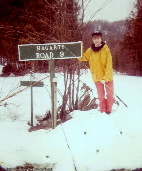 Fishing in the snow. Brudenell Creek 1986. Streamside chic.