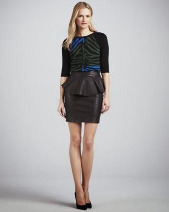 Zebra Print Sweater Dress 108