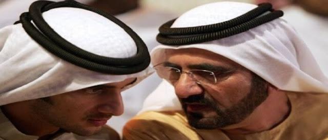 الشيخ محمد بن راشد وابنه