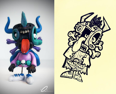 Goose Sculpt and Original Sketch by [rich] of UME Toys