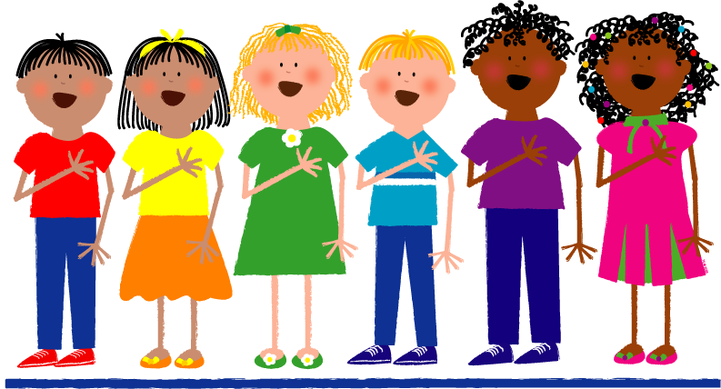 children learning in school clip art