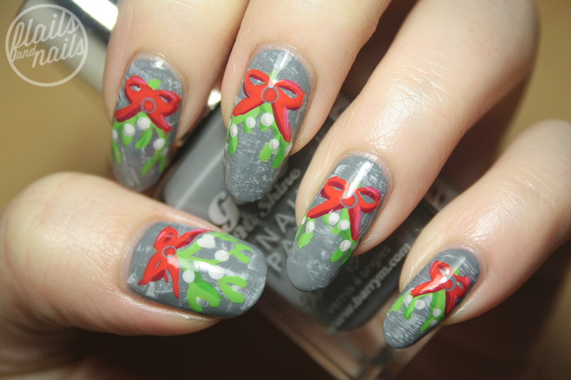 Mistletoe nail art with barry m chai flails and nails so im keeping this post short and sweet i hope you like this post and arent getting sick of festive manicures yet because there are plenty more to come prinsesfo Image collections