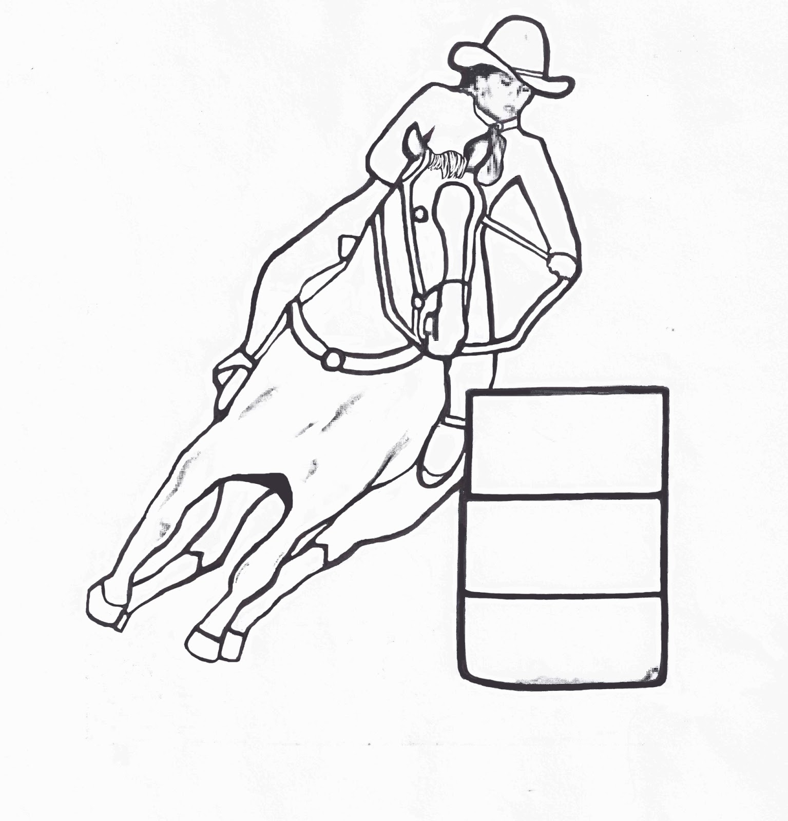 barrel racing coloring pages - photo#3