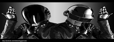 Photo de couverture facebook daft punk