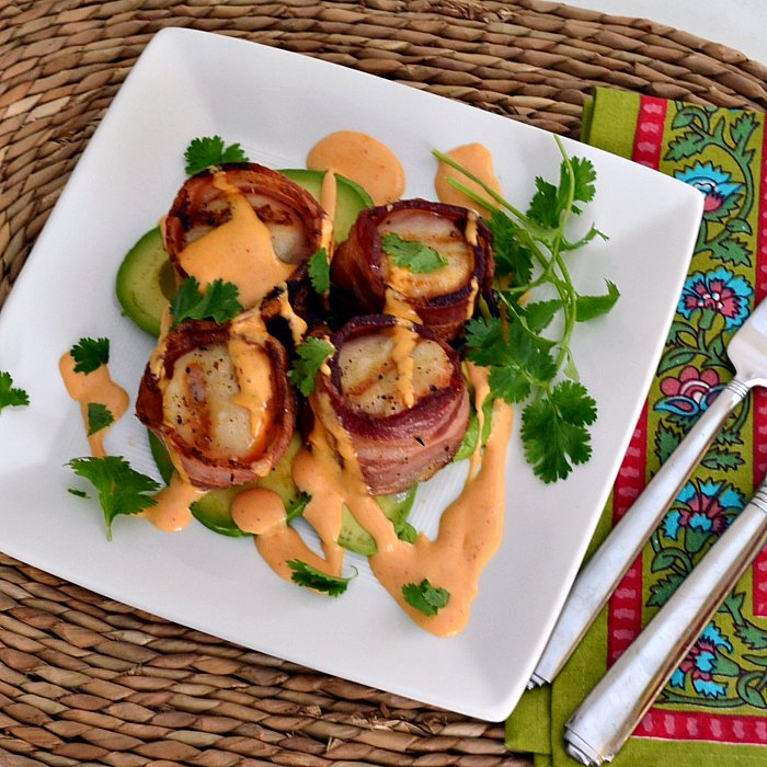 The Foodie Couple: Grilled Bacon Wrapped Scallops with a Chipotle ...