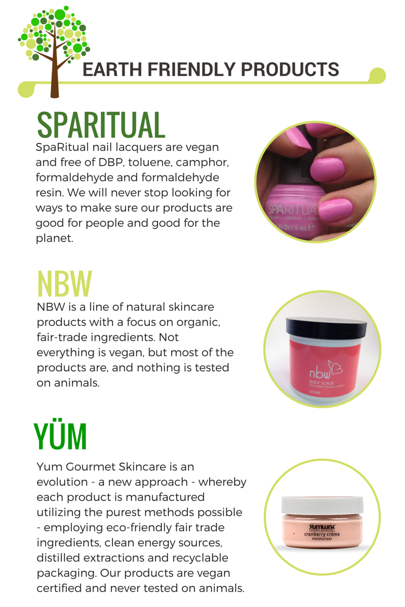 Vegan Products available at Pur Spa