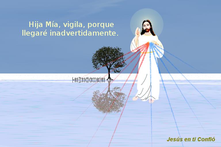 fotografia donde jesus dice algo con texto de la par