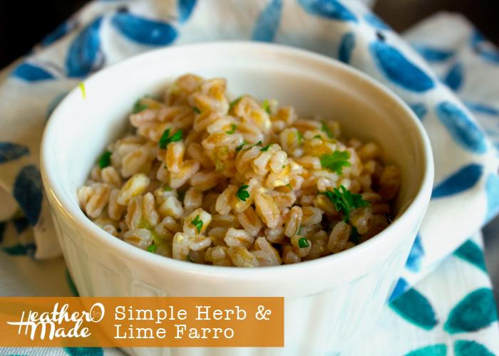 simple herb lime farro recipe