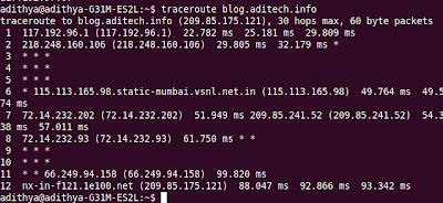 traceroute linux command