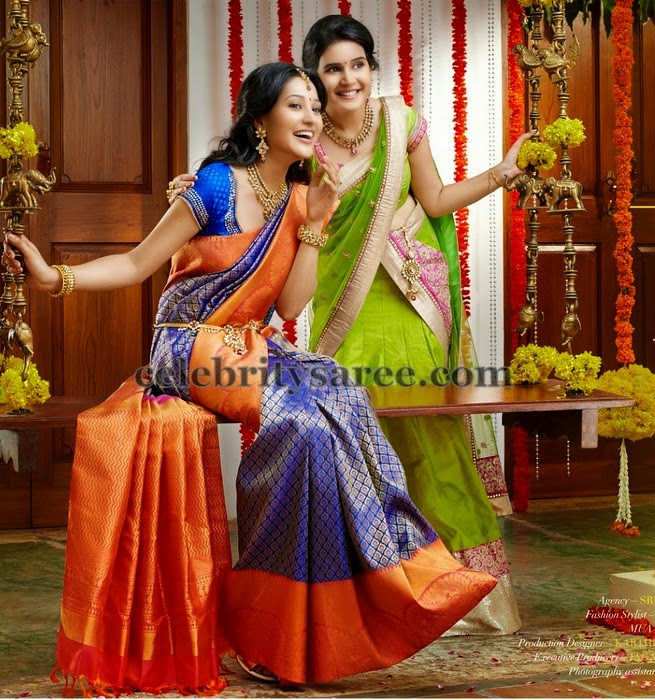 Ritu Barmecha Blue Bridal Saree