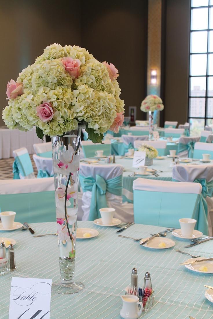 idéé et photo décoration mariage: centre de table en verre